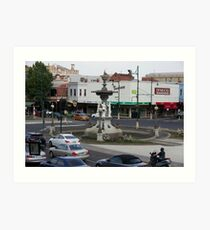 Bendigo Fountain, Bendigo, Bird's Eye View. Art Print