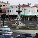 Bendigo Fountain, Bendigo, Bird's Eye View. by djnatdog