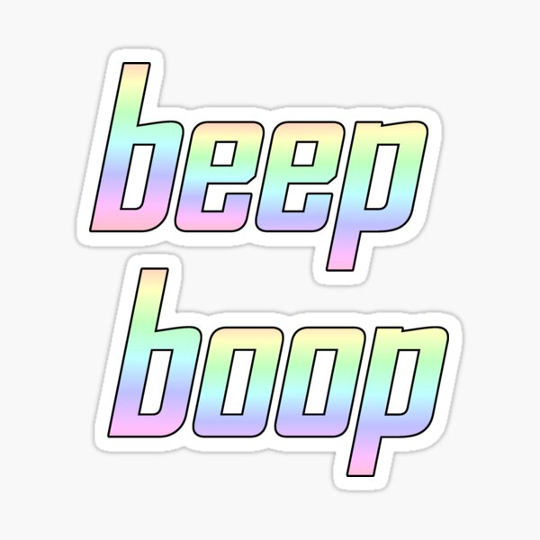 beep boop Sticker
