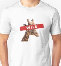 Giraffe Head Wild - Supreme Red T-Shirt