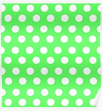 Polka over Light Green (small dots) Poster