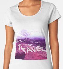 travel purple modern foto Women's Premium T-Shirt