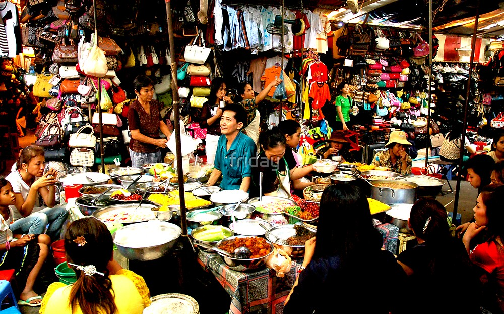 phnom penh market  by friday