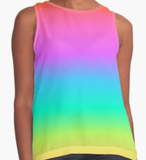 Pastel Rainbow Gradient Contrast Tank