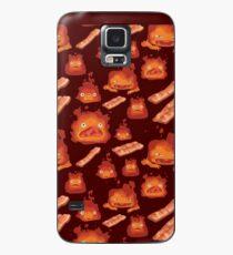 Funda/vinilo para Samsung Galaxy Calcifer + Bacon