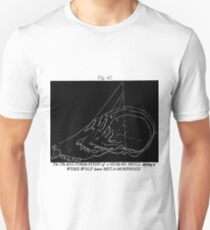 Transformation of a Werewolf Skull Unisex T-Shirt