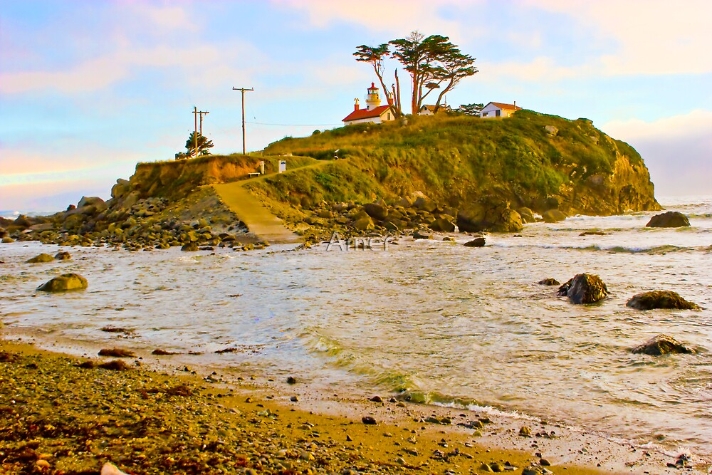 Crescent city lighthouse by Amer