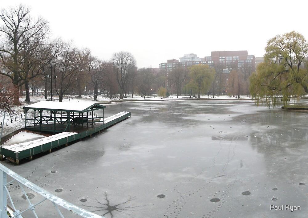 Boston Public Garden Lagoon by Paul Ryan