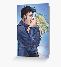 Tentoo x Rose Doctor Who Tenth Doctor Rose Tyler Greeting Card