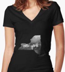New York Women's Fitted V-Neck T-Shirt