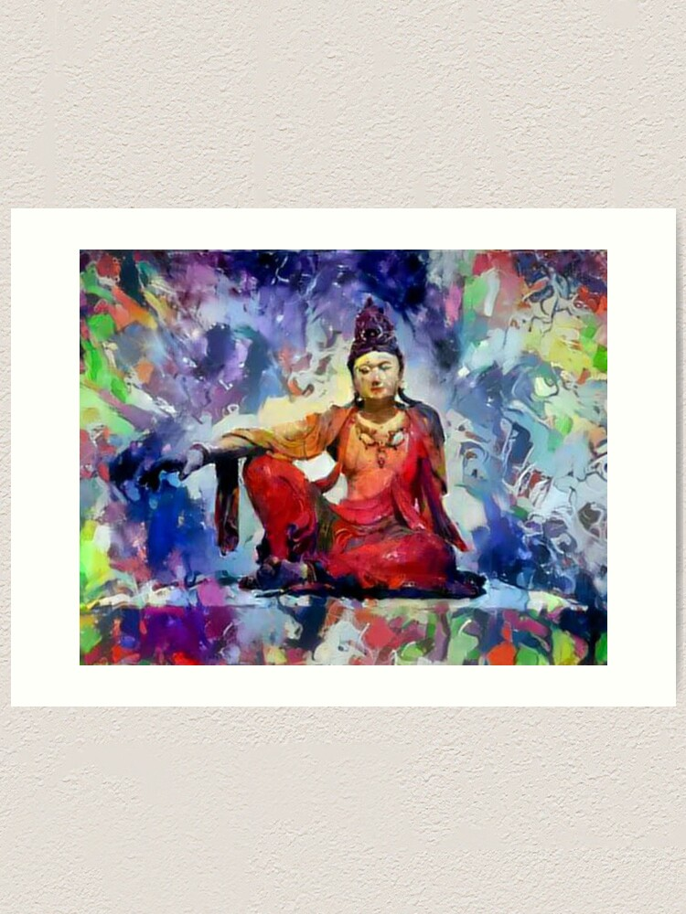 "Alternate view of The Goddess of Compassion- ""Kuan Yin""  Art Print"