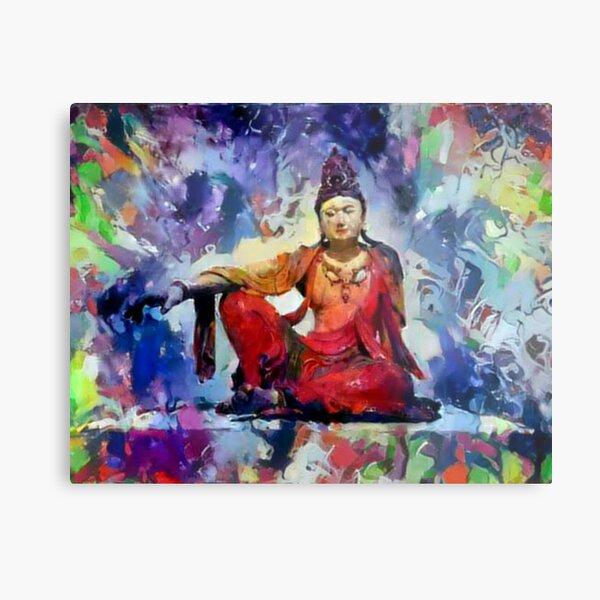 """The Goddess of Compassion- """"Kuan Yin""""  Metal Print"""