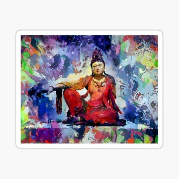"The Goddess of Compassion- ""Kuan Yin""  Sticker"