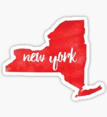 New York– red Sticker