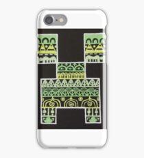 Minecraft Creeper Zentangle iPhone Case/Skin