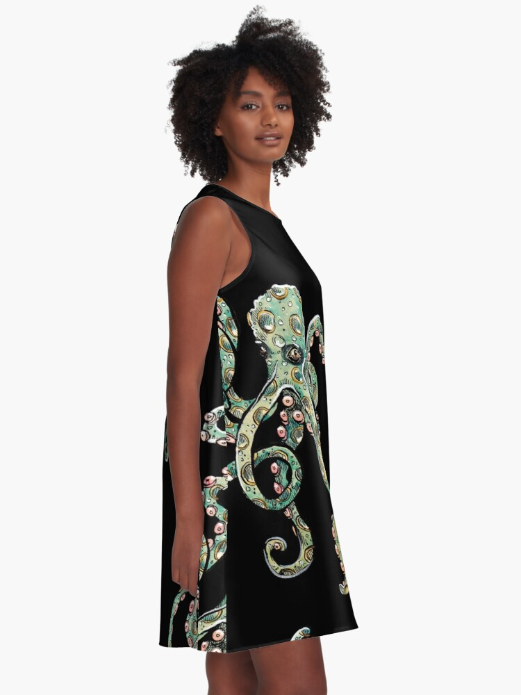 Alternate view of Octopus A-Line Dress