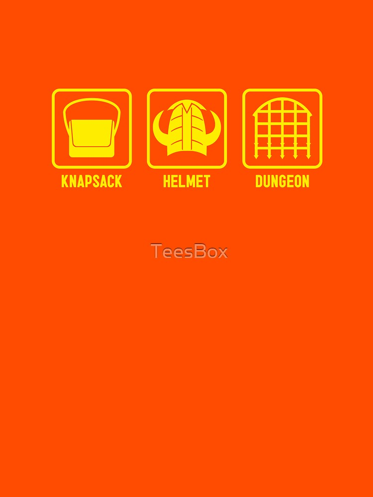 Knapsack, Helmet, Dungeon by TeesBox