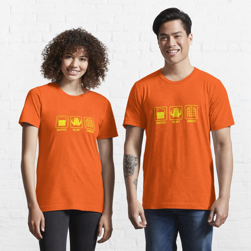 Knapsack, Helmet, Dungeon Essential T-Shirt