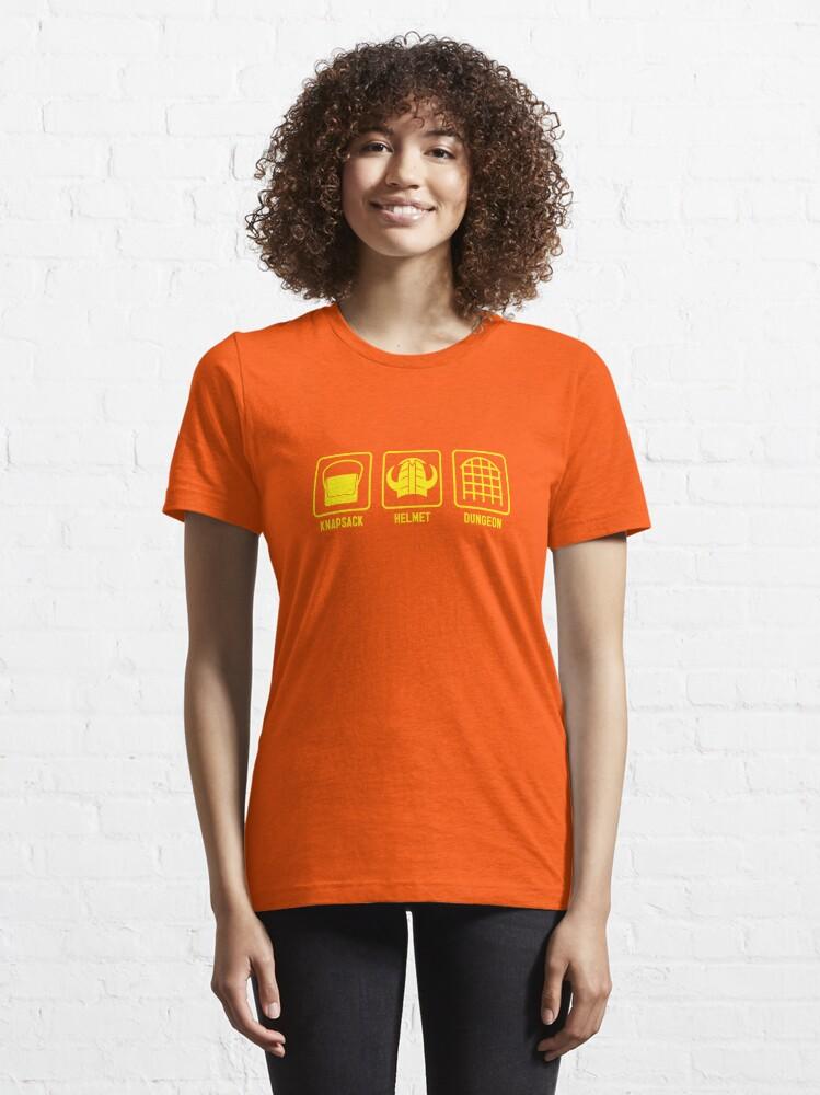 Alternate view of Knapsack, Helmet, Dungeon Essential T-Shirt