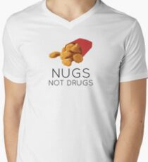 Nugs not drugs Men's V-Neck T-Shirt