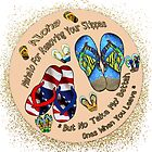MAHALO FOR REMOVING YOUR SLIPPAS by WhiteDove Studio kj gordon