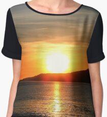 Sunset on the Isle of Man Women's Chiffon Top