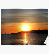 Sunset on the Isle of Man Poster