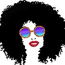Glitter Shades | Afro Hairstyle Woman by Cherie Balowski
