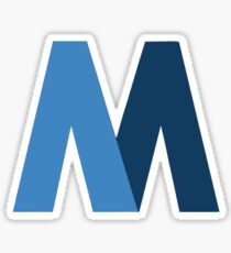 "MTA Vintage ""two-toned M"" Logo Sticker"