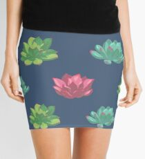 Collection of succulents Mini Skirt