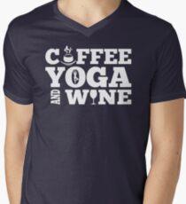 Coffee yoga wine Mens V-Neck T-Shirt