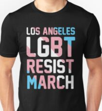 LOS ANGELES LGBT RESIST MARCH Unisex T-Shirt