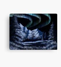 Bob Ross Alaskan Northern Lights Canvas Print