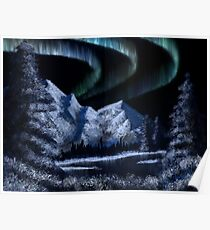 Bob Ross Alaskan Northern Lights Poster
