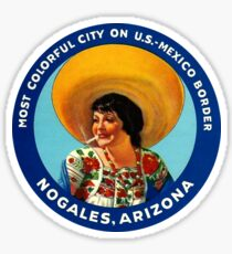 Nogales Arizona Mexico Vintage Travel Decal Sticker