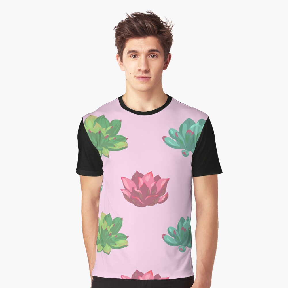 Collection of succulents Graphic T-Shirt Front