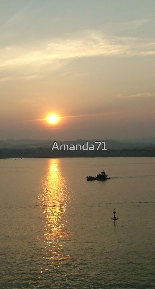 Dawn over Bilbao - vertical 001 by Amanda71