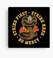 Cobra kai - Strike First - Strike Hard - No Mercy HD Logo Canvas Print