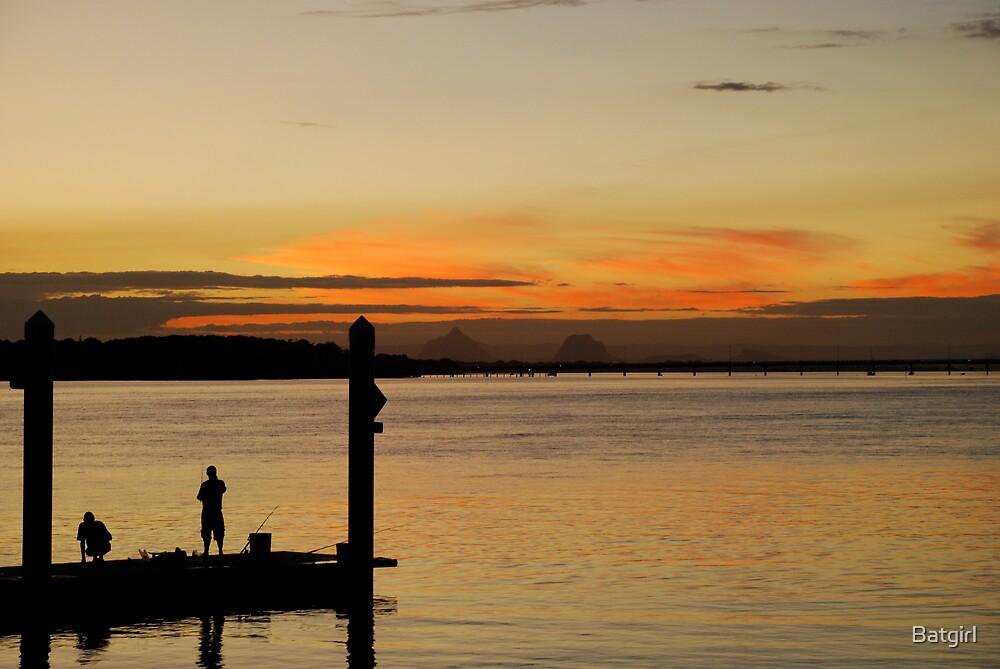 Sunset Fishing  by Batgirl