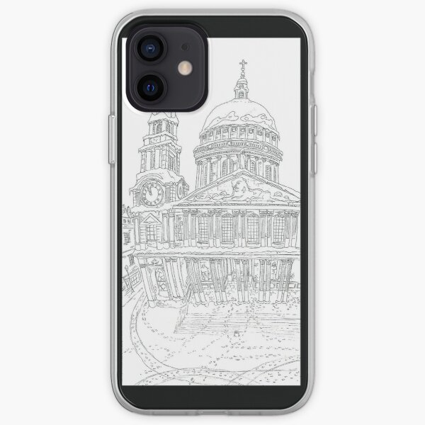 Snow in london iPhone Soft Case