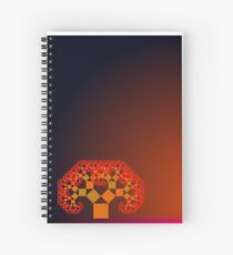 Pythagoras Tree at Dusk Spiral Notebook