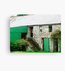 Old stone barn, Donegal, Ireland Canvas Print