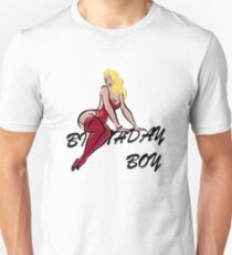 Birthday Boy Vintage Blond Diva Gifts For Men Guys and Boys Unisex T-Shirt