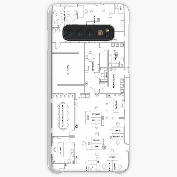The Office Floor Plan Samsung Galaxy Snap Case