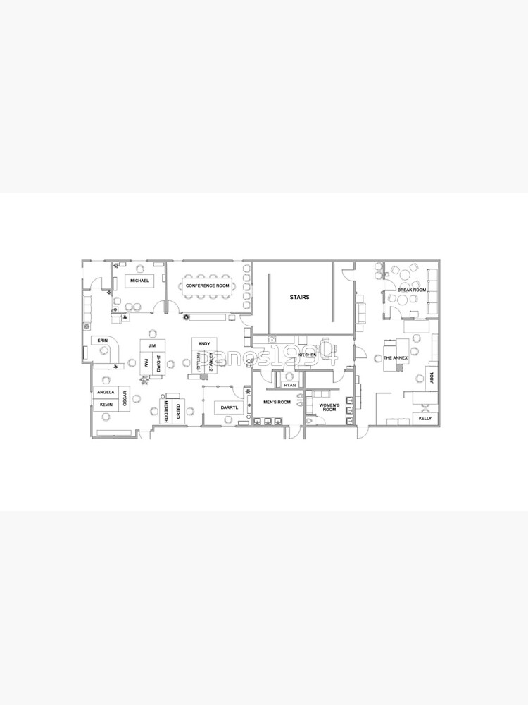 The Office Floor Plan by panos1994
