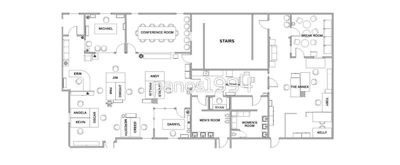 the office floor plan. the office floor plan by panos1994 l