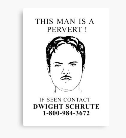 This Man is a Pervert Canvas Print