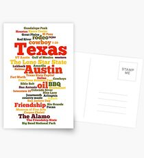 Texas (US state, The Lone Star State) Postcards