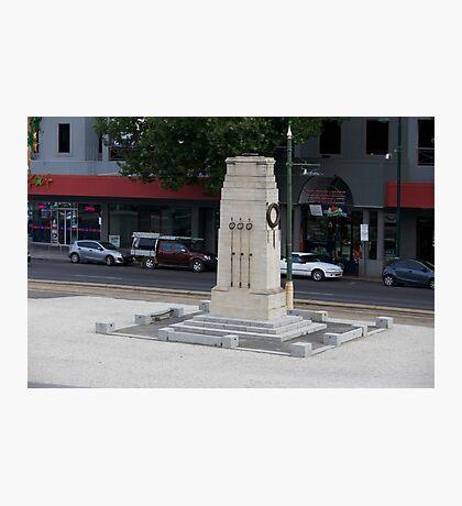 War Memorial - Bendigo Fountain Court. Photographic Print