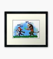 Low health?! - Nevermind! Framed Print